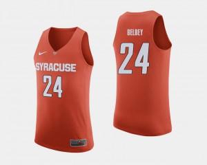 Men Shaun Belbey Syracuse Jersey #24 Orange College Basketball 471157-579