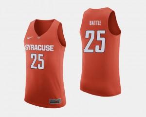 #25 Tyus Battle Syracuse Jersey College Basketball For Men's Orange 838281-729