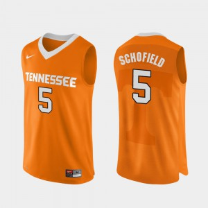 For Men's Authentic Performace Orange College Basketball Admiral Schofield UT Jersey #5 970557-989