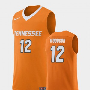College Basketball Mens Replica Orange Brad Woodson UT Jersey #12 563754-132
