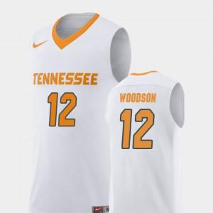 College Basketball Replica #12 For Men White Brad Woodson UT Jersey 436307-896