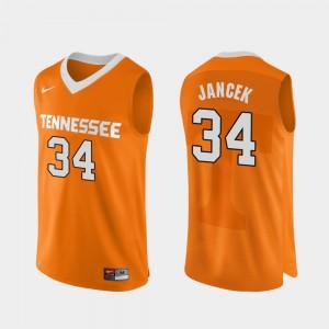 For Men Brock Jancek UT Jersey Orange Authentic Performace College Basketball #34 977143-702