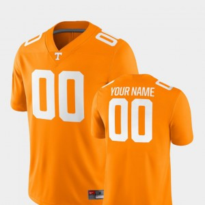 Men's 2018 Game #00 College Football UT Customized Jersey Tennessee Orange 951871-359
