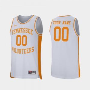 Retro Performance College Basketball White #00 UT Custom Jerseys For Men 919847-882