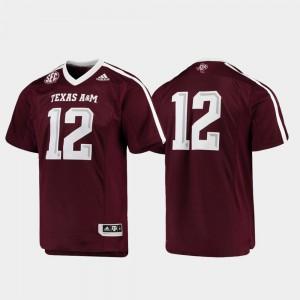 Premier Football Texas A&M Jersey #12 Maroon For Men 747824-763