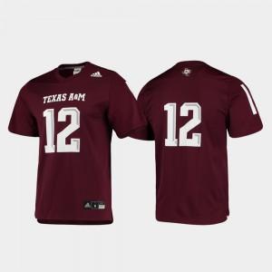Football Replica Maroon Mens Texas A&M Jersey #12 904955-219