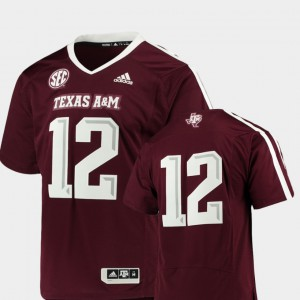 Premier College Football For Men Maroon Texas A&M Jersey #12 907013-441