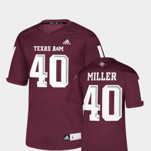NFLPA Alumni Chase Maroon Men Von Miller Texas A&M Jersey #40 Replica 516874-490