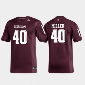 Replica Mens #40 Von Miller Texas A&M Jersey Maroon Alumni Football 315127-635