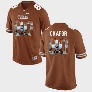 For Men's Pictorial Fashion #80 Alex Okafor Texas Jersey Brunt Orange 763721-964