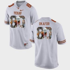 White Pictorial Fashion #80 Alex Okafor Texas Jersey Mens 574483-599