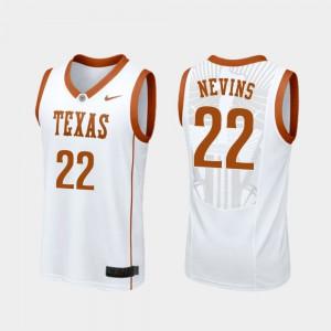 White Men #22 Replica Blake Nevins Texas Jersey College Basketball 964031-980