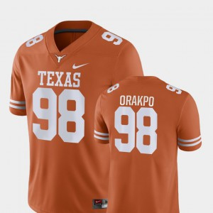 For Men Brian Orakpo Texas Jersey Orange Game College Football #98 915547-589