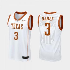 Courtney Ramey Texas Jersey College Basketball Replica #3 Men White 297445-983
