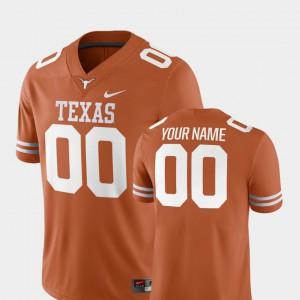 2018 Game Men's Texas Orange #00 College Football Texas Custom Jersey 846181-355