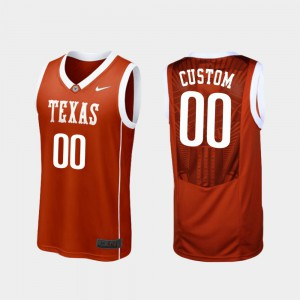 Burnt Orange #00 Men College Basketball Replica Texas Customized Jerseys 247983-811