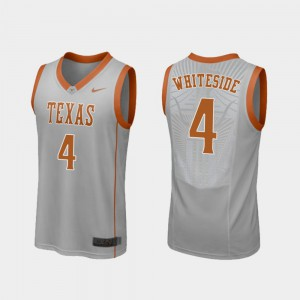 #4 For Men's Replica Drayton Whiteside Texas Jersey Gray College Basketball 578833-244