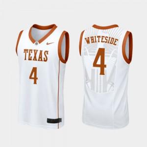 College Basketball White Mens Drayton Whiteside Texas Jersey #4 Replica 679184-794
