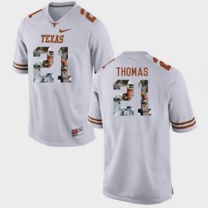 Pictorial Fashion White #21 Duke Thomas Texas Jersey Men's 953828-609