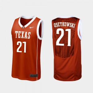 #21 Replica Burnt Orange Dylan Osetkowski Texas Jersey College Basketball Men 422986-307
