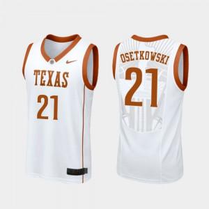 Replica College Basketball White For Men #21 Dylan Osetkowski Texas Jersey 973644-706
