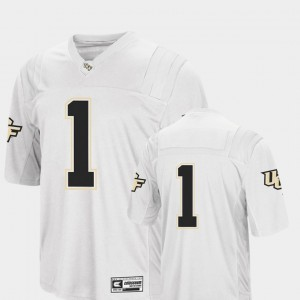College Football UCF Jersey Colosseum White #1 Mens 977318-549