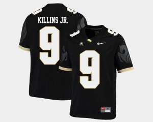 #9 American Athletic Conference College Football Black Mens Adrian Killins Jr. UCF Jersey 311476-562