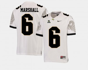 For Men's American Athletic Conference White #6 College Football Brandon Marshall UCF Jersey 260685-791