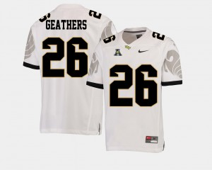#26 American Athletic Conference White College Football For Men Clayton Geathers UCF Jersey 878194-857