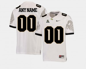 UCF Customized Jerseys White #00 American Athletic Conference College Football Men 118380-106