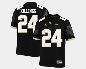 #24 Black American Athletic Conference College Football D.J. Killings UCF Jersey Mens 824654-236