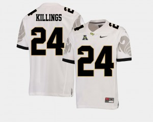 American Athletic Conference D.J. Killings UCF Jersey For Men's College Football White #24 625113-374