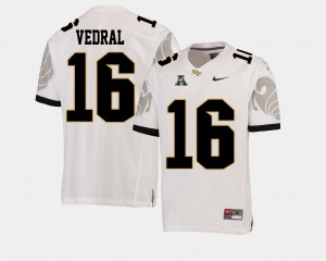 Noah Vedral UCF Jersey Men's #16 American Athletic Conference College Football White 126570-453