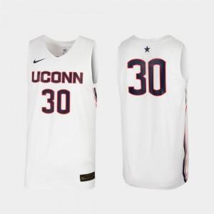 UConn Jersey College Basketball Men #30 White Replica 281226-279