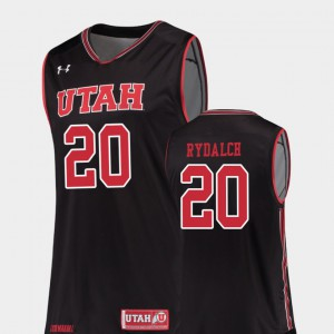 Black #20 College Basketball Beau Rydalch Utah Jersey Replica Men 647837-147