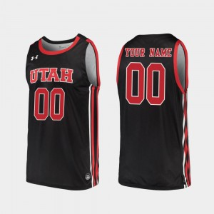 Replica Black #00 For Men Utah Customized Jerseys 2019-20 College Basketball 924775-332
