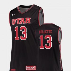 Black Replica #13 Men's David Collette Utah Jersey College Basketball 753696-653