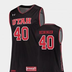 College Basketball Black Replica Marc Reininger Utah Jersey For Men's #40 327293-621