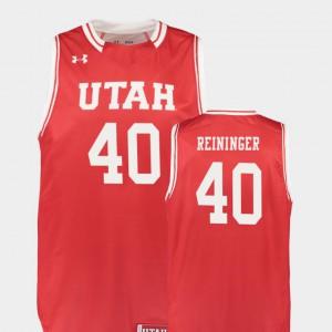 Marc Reininger Utah Jersey Red For Men #40 Replica College Basketball 489991-798