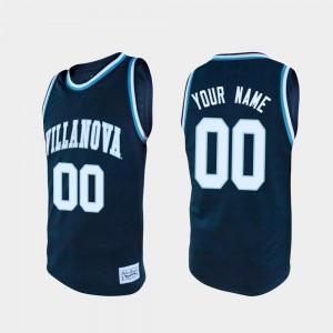 #00 Villanova Customized Jersey College Basketball Navy For Men's Alumni 169219-566