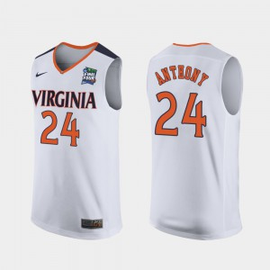 #24 Marco Anthony UVA Jersey Replica 2019 Final-Four White Mens 960334-654