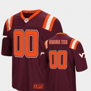 Mens Colosseum Virginia Tech Jersey Maroon Foos-Ball Football #00 161699-615