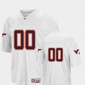 College Football Colosseum White For Men #00 Virginia Tech Jersey 342165-379