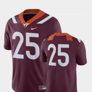 2018 Game Maroon Virginia Tech Jersey #25 Men's College Football 182384-865