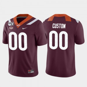 #00 Game College Football Mens Virginia Tech Custom Jersey Maroon 368972-215