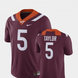 Maroon #5 For Men Tyrod Taylor Virginia Tech Jersey Player Alumni Football Game 553191-857