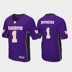 Max Power Purple Football #1 Mens Washington Jersey 773713-612