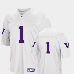 White Washington Jersey College Football #1 Mens Colosseum 2018 310061-342