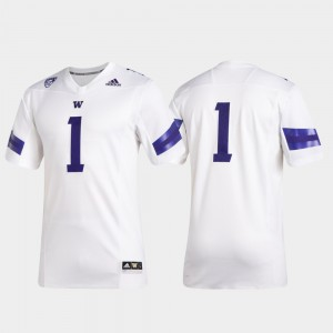 White Premier Mens Washington Jersey College Football #1 349656-662