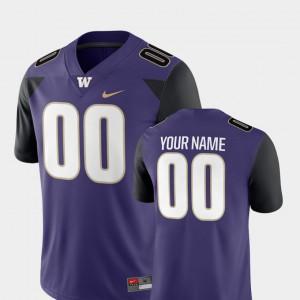 #00 Washington Custom Jerseys For Men 2018 Game Purple College Football 771484-149